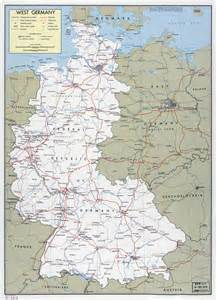 West Germany Map by Large Political And Administrative Map Of West Germany