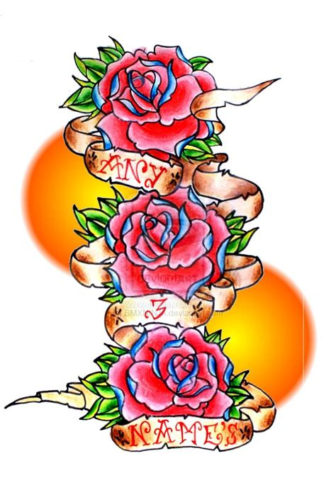 rose and banner tattoo designs banner design cliparts co