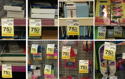 ton of clearance school and office supplies at cvs