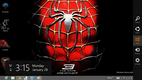 themes for windows 7 spiderman 3 download gratis tema windows 7 black spiderman 3 theme