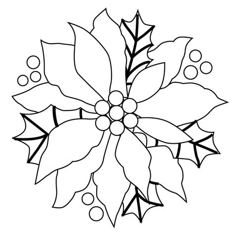 printable paper poinsettia pattern poinsettia pattern quilt blocks pinterest