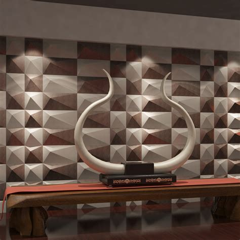 leather walls leather look wall covering 3d leather wall tile 11 8x11 8in