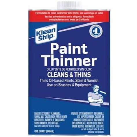 home depot paint thinner klean 1 qt paint thinner qkpt104sc the home depot