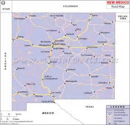 map of colorado and new mexico new mexico road map http www mapsofworld