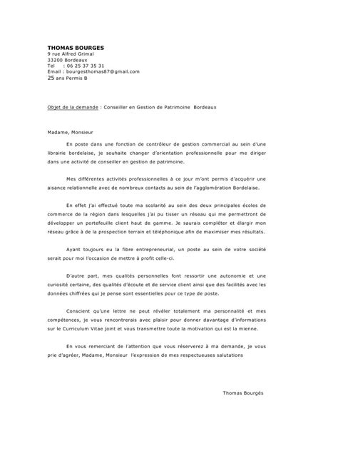 Exemple De Lettre De Motivation Maroc Pdf modele lettre de motivation reconversion commercial
