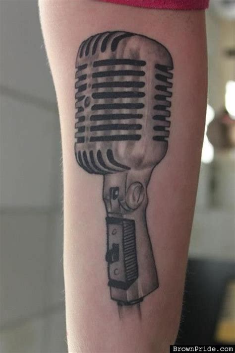 old school microphone tattoo school mic pictures to pin on tattooskid