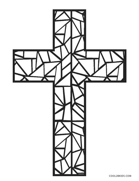 cross color free printable cross coloring pages for cool2bkids
