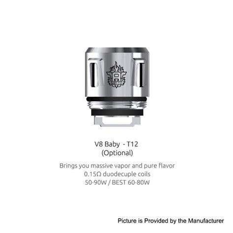 Authentic Smok V8 Baby T8 0 15 Ohm Untuk Tfv8 Baby 5pcs authentic smok v8 baby t12 0 15ohm coil for tfv12 baby prince tank