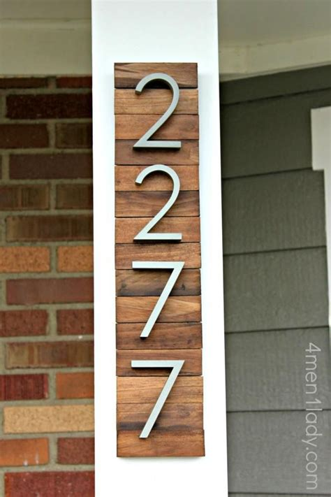 house numbers diy idea make a unique house number display with paint