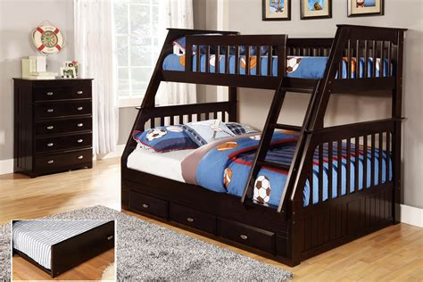futon bunk beds discovery world furniture espresso mission