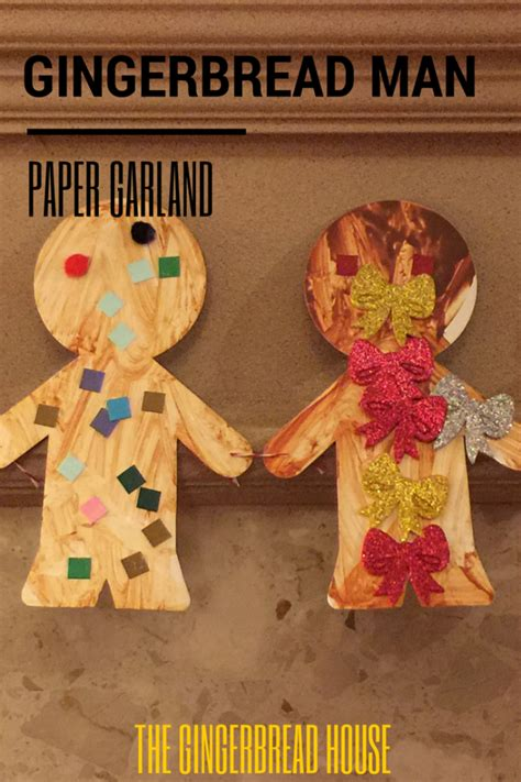 How To Make A Gingerbread Out Of Paper - how to make a gingerbread paper garland the