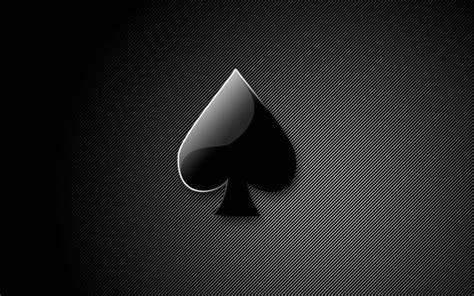 black  white stripes poker black heart