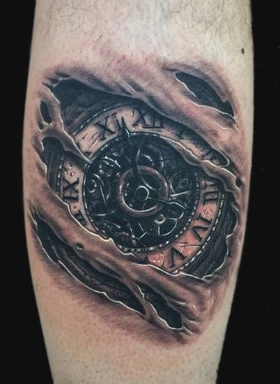 clock tattoo by daniel chashoudian tattoonow