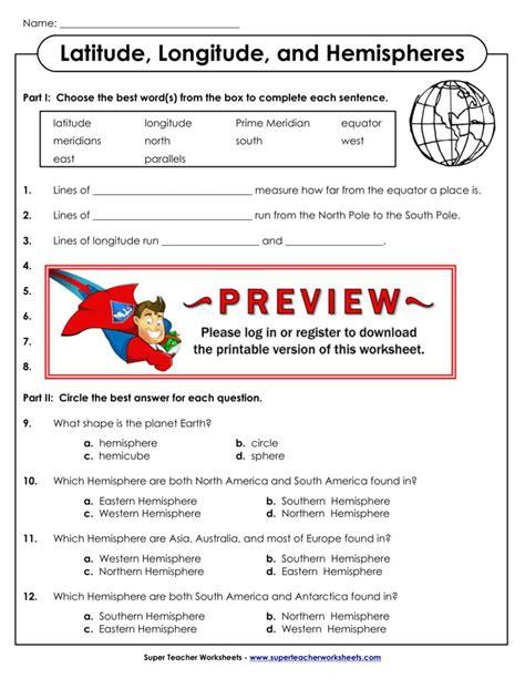 finding latitude and longitude worksheet worksheet longitude and latitude worksheet worksheet