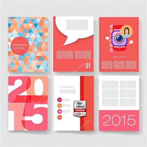 brochure flat design templates vector brochure design collection applications
