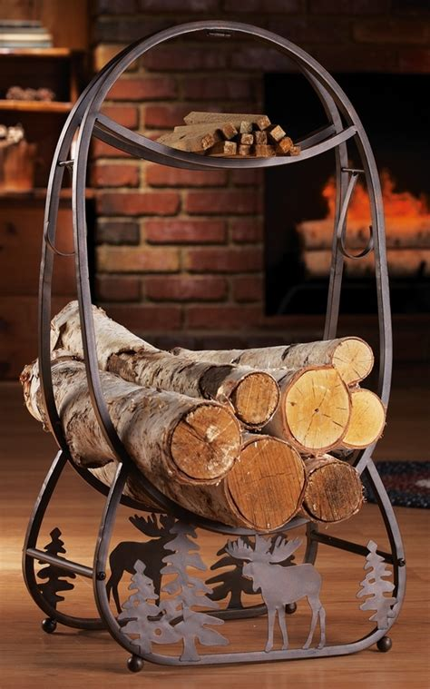 decorative fireplace log holder log cabin decor ideas log house home decorations and accessories