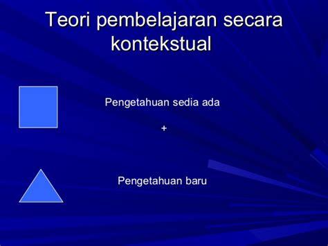 Teori Belajar Bahasa Untuk Guru Bahasa Mahasiswa Bahasa Pranowo pembelajaran secara kontekstual