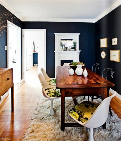 Navy Blue Room by 5 Rooms To Create With Navy Blue Walls