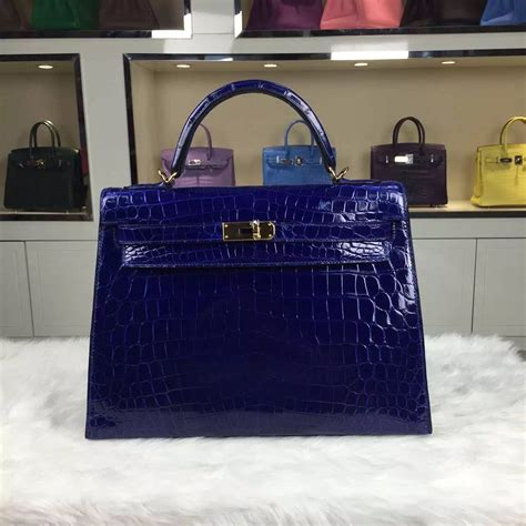 Hermes Birkin 8441 discount hermes kelly32cm crocodile shiny leather 7t blue electric fashion tote bag hermes