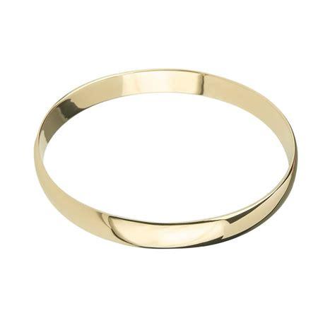 9ct gold solid 7mm bangle bracelet