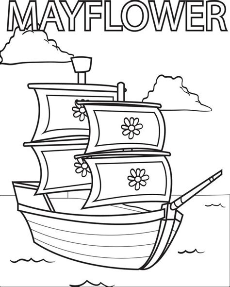 free printable the mayflower coloring page for kids 3