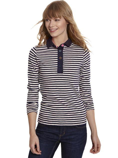 Mineola Stripe Sabrina Top Blue joules sabrina stripe polo top in blue lyst