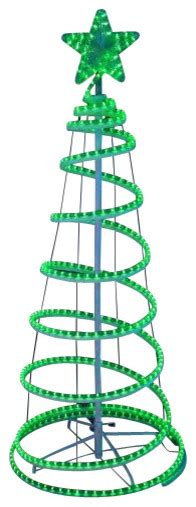 green spiral christmas tree led lighted spiral rope light tree yard decoration green 6 contemporary