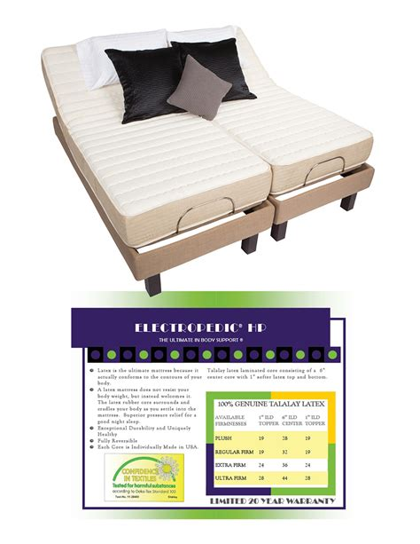 Organic Mattress San Diego by San Diego Ca With Electropedic Adjustable Beds Carlsbad