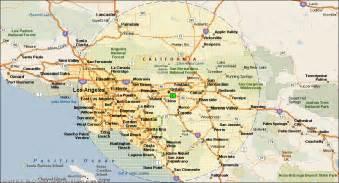 ontario california map california map