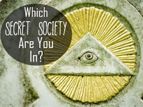 which secret society are you in quiz today