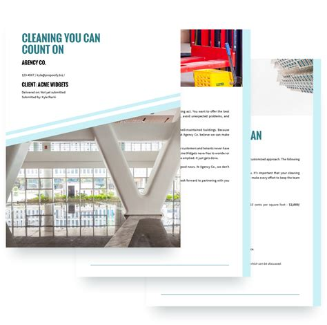 Cleaning Services Proposal Template Free Sle Proposify Cleaning Service Template Free