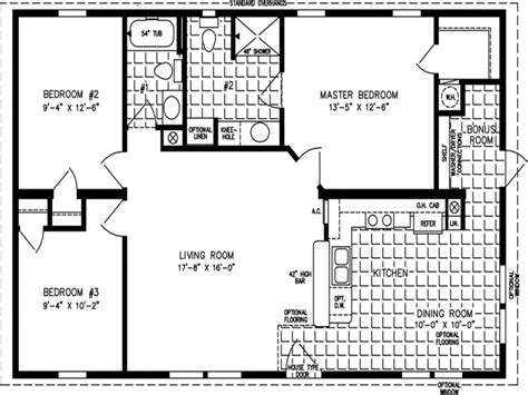 1000 square foot house floor plan house plans