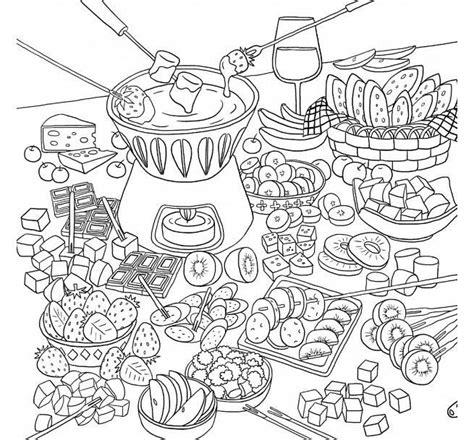coloring pages for adults food coloriage colorir alimentos coloring