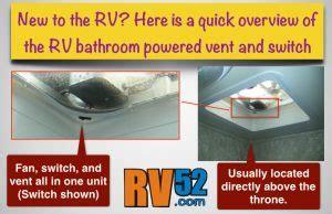 rv bathroom fan switch rv bathroom vent and fan switch