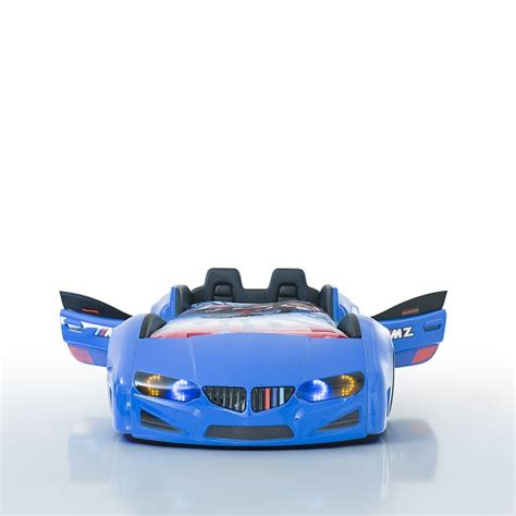childrens car bed bmw childrens car bed in blue with led and leather seats