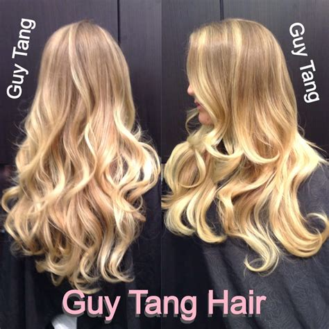 blonde on blonde balayage highlight ombr 233 by guy tang yelp