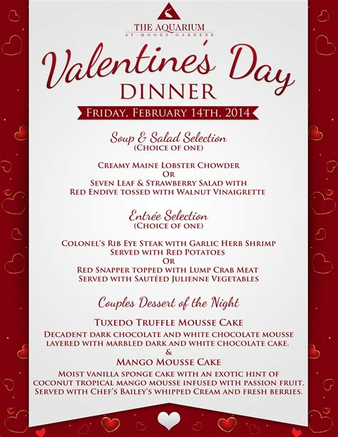 7 best images of valentine printable menu templates