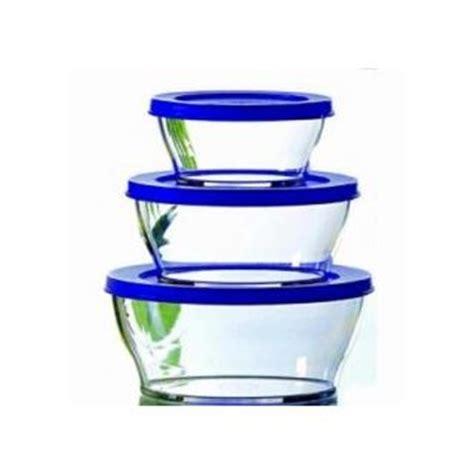 Tupperware Clear Bowl Set 2 tupperware lunch box 478 clear bowl glass like medium set of 2 445