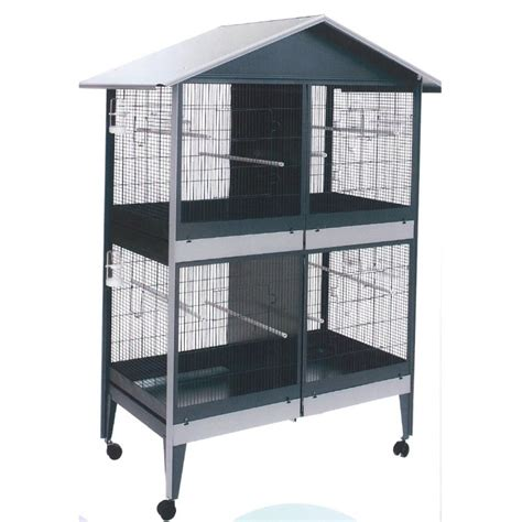 gabbie e voliere per uccelli gabbia voliera zincata quadrupla per uccelli