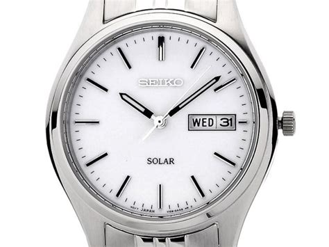 Seiko Classic Sfq806p1 White Stainless Steel Bracelet seiko sne031p1 stainless steel solar powered bracelet mens