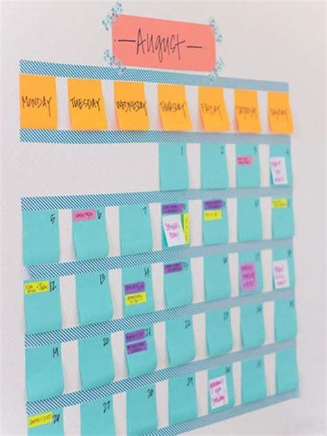 Calendar Decoration by 20 Cheap Ideas To Create Diy Calendars For Unique Wall