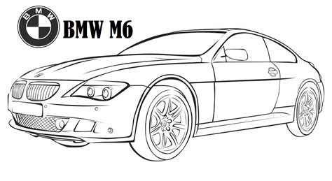 car coloring sheets bmw m6 coloring page luxury car coloring printable sheet