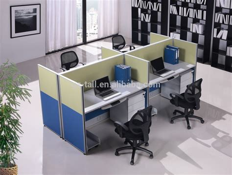 workplace layout and workstation design 4 seat office workstation cubicle modern design