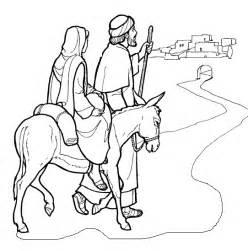 Mary And Joseph Travel To Bethlehem Travel To Bethlehem Of Bethlehem Coloring Page