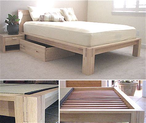 Tatami Platform Bed Frame Platform Beds Low Platform Beds Japanese Solid Wood Bed Frame