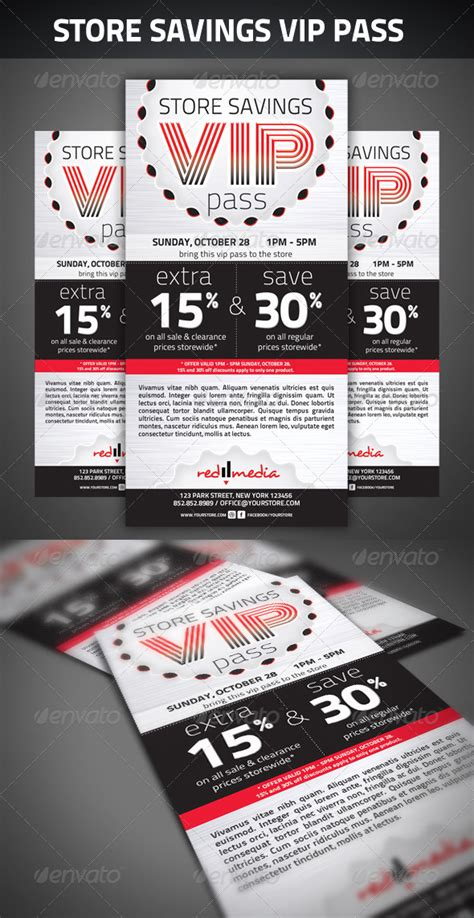 vip backstage pass template store savings vip pass by redpencilmedia graphicriver