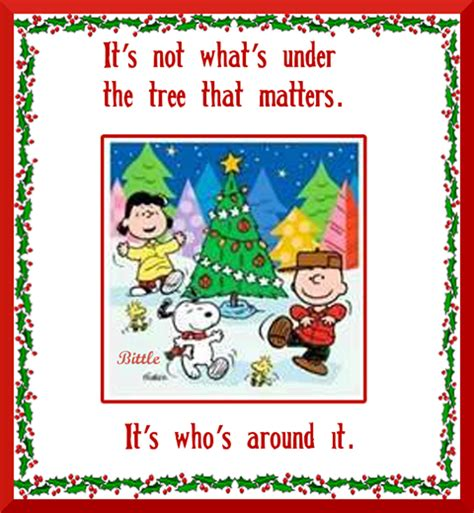 charlie brown christmas its not whats under the tree quote its not whats the tree pictures photos and images for and