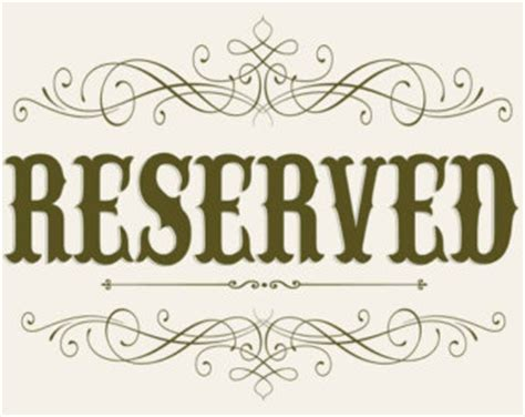 reserved seating signs template reserved seating sign template pictures to pin on