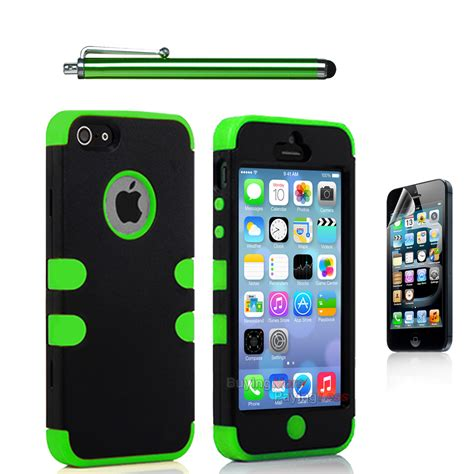 Casing Hp Shockproof Silicone Anti Knock Iphone 5 5s Iphone 5c hybrid shockproof soft rugged cover for apple iphone se iphone 5 5s