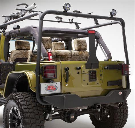 jeep body armor bumper body armor 4x4 jk 2961black steel rear base bumper for